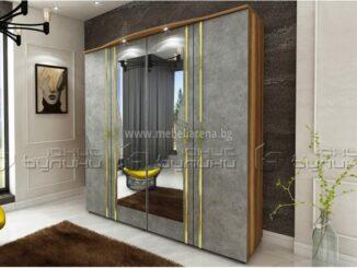 гардероб с две плъзгащи врати